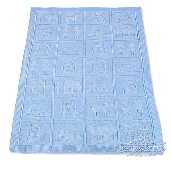 Baby Matex Одеяло акрил75х100см синьо /Звезда/ 0135.24